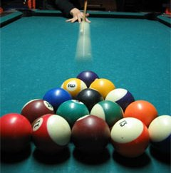 how to hit all pool balls in on break